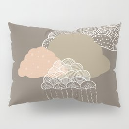 Funny clouds brown Pillow Sham