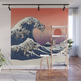 The Great Wave Of  French Bulldog Wall Mural