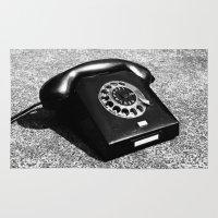 telephone Area & Throw Rugs featuring telephone by Falko Follert Art-FF77