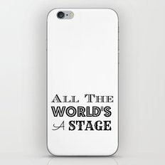 All the world's a stage William Shakespeare Typography iPhone & iPod Skin
