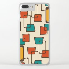 Skewed Squares Midcentury Pattern Clear iPhone Case