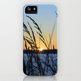Sunset Sea Grass iPhone Case