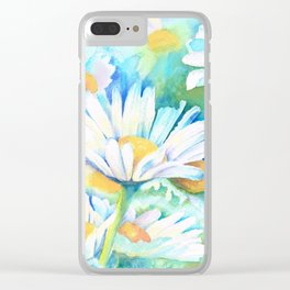 Happy Daisies Clear iPhone Case
