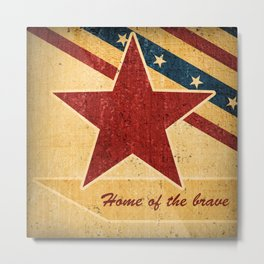 Home of the brave 1 Metal Print