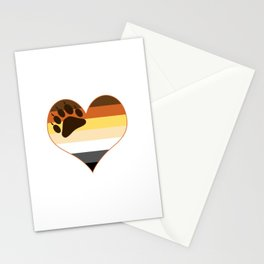 Bear Heart Paw Edition Stationery Cards