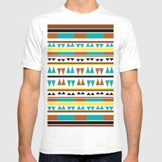 Pattern 2  White Mens Fitted Tee MEDIUM