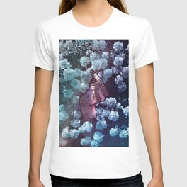 Love Finger Snap Space Floral T-shirt