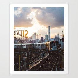 Silver Seven Art Print