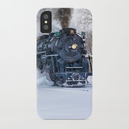 North Pole Express Train (Steam engine Pere Marquette 1225) iPhone Case