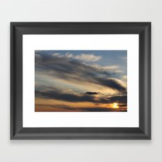 Sunset Over Lake Michigan Framed Art Print