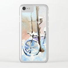 Lost bike Clear iPhone Case