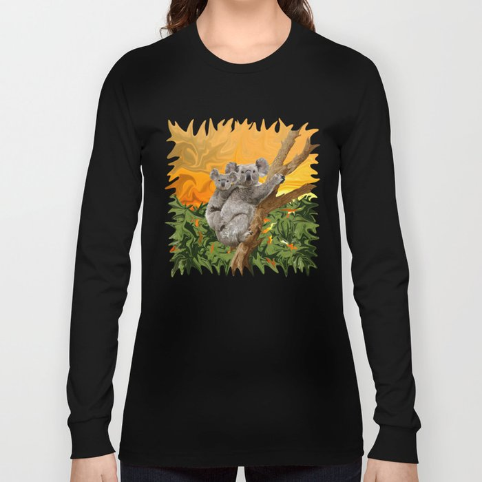 Koala Sunset Long Sleeve T-shirt