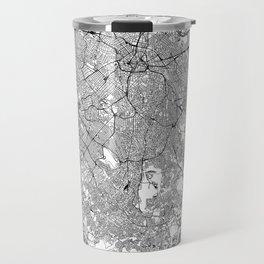 Sao Paulo White Map Travel Mug