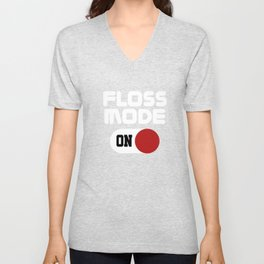 Floss Like A Boss Dance Flossing Dance Shirt Gift Idea Floss mode on Unisex V-Neck
