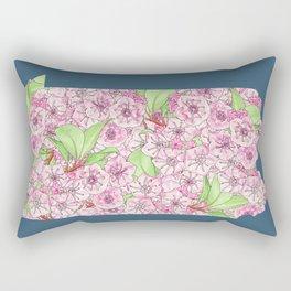 Pennsylvania in Flowers Rectangular Pillow