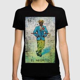 El Negrito Mexican Loteria Bingo Card T-shirt