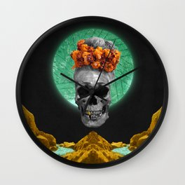 Spiritual Skull Of The Gold Land And The Millstone Wall Clock