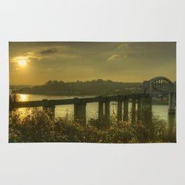 Brunel Bridge Sunset Rug