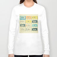 retro Long Sleeve T-shirts featuring All Tomorrow's Parties by Cassia Beck