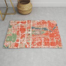 Beijing city map classic Rug
