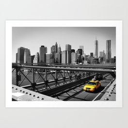 New York City Yellow Cab, NYC Taxi Art Print