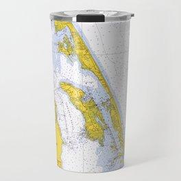 Vintage Map of The Outer Banks NC (1972) Travel Mug