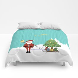 Santa Claus and gifts Comforters