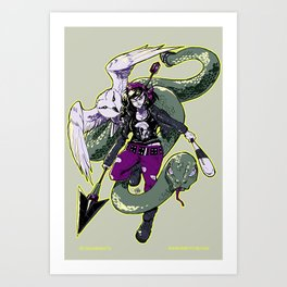 Rockabilly Athena Art Print
