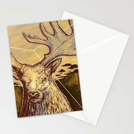 Stag Dimension of Dust Stationery Cards