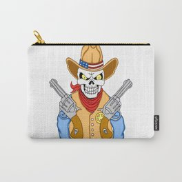 Western Cowboy Skull Carry-All Pouch
