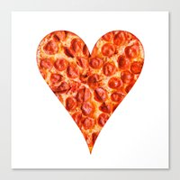 pizza Canvas Prints featuring PIZZA by Good Sense
