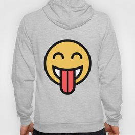 Smiley Face   Big Tongue Out Hoody