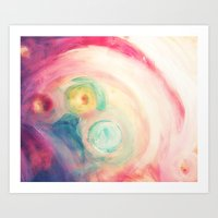 third eye Art Prints featuring third eye by Kras Arts - Fly Me To The Moon