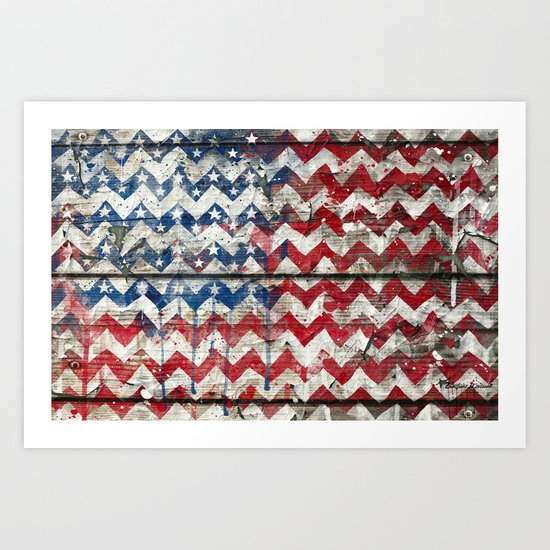 American Chevrons Flag. Art Print