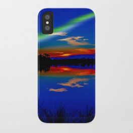 North light over a lake iPhone Case