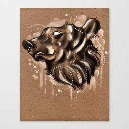 Bearly Brown Canvas Print