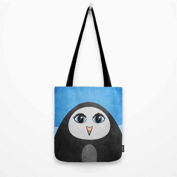 Cute Geometric Penguin Tote Bag