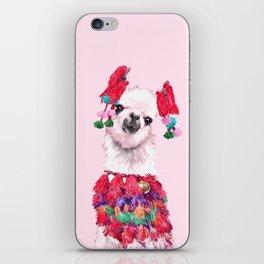 Llama in Colourful Costume iPhone Skin