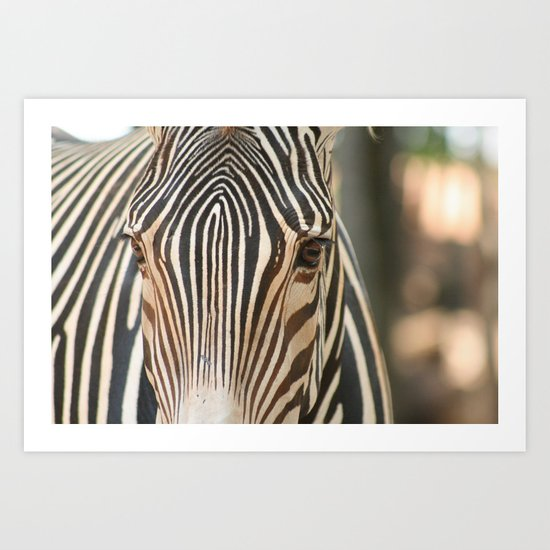 Stripe and Bokeh Art Print