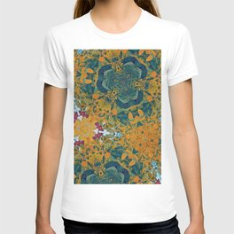 Orange and Green Flora T-shirt