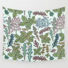 herbs pattern Wall Tapestry