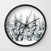 snow Wall Clocks featuring Snow Porn by Tordis Kayma