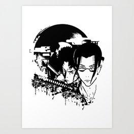 samurai grunge Art Print