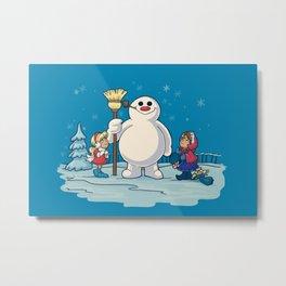 Let's Build a Snowman! Metal Print