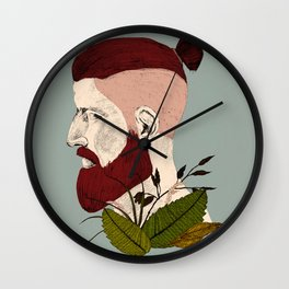 Rendered In Hipster Wall Clock