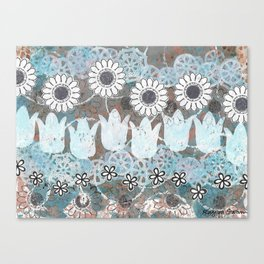 Florals in Neutral Canvas Print