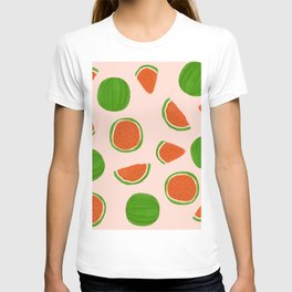 Summer fruit on pink T-shirt