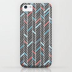 Herringbone Black and Blue #2 iPhone 5c Slim Case
