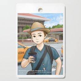 Backpack Sir Sir at Taipei Main Station Cutting Board