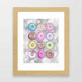 Donut Invasion Framed Art Print